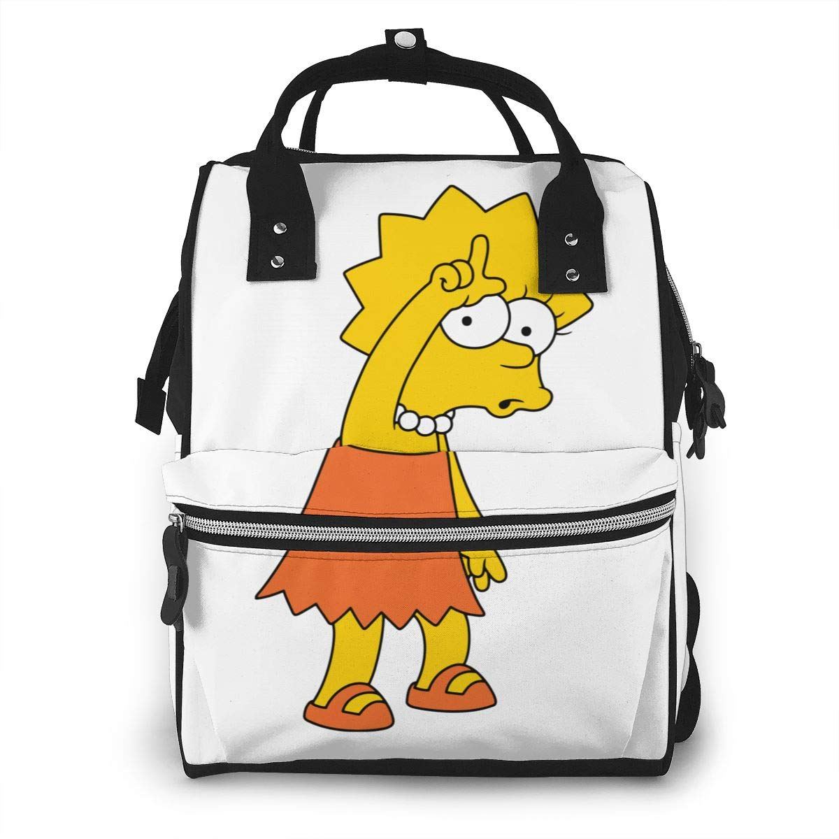 The Simpsons Krusty The Clown Diaper Bag Mummy Dad Tote Backpack
