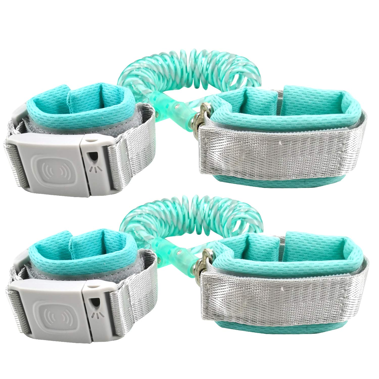 Child Harnesses & Leashes for Toddlers with Induction Lock - 2 Pack (4.9ft+8.2ft)