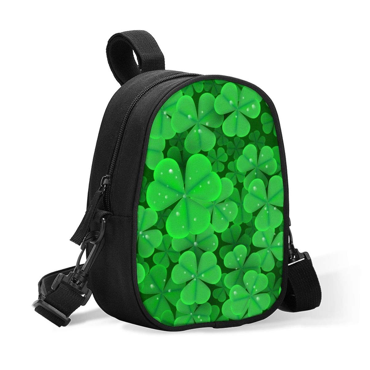 Insulated Baby Bottle Tote Bags for Travel Double Baby Bottle Warmer Or Cool St. Patrick's Day Clover Breastmilk Baby Bottle Cooler & Travel Bag, Easily Attaches to Stroller Or Diaper Bag