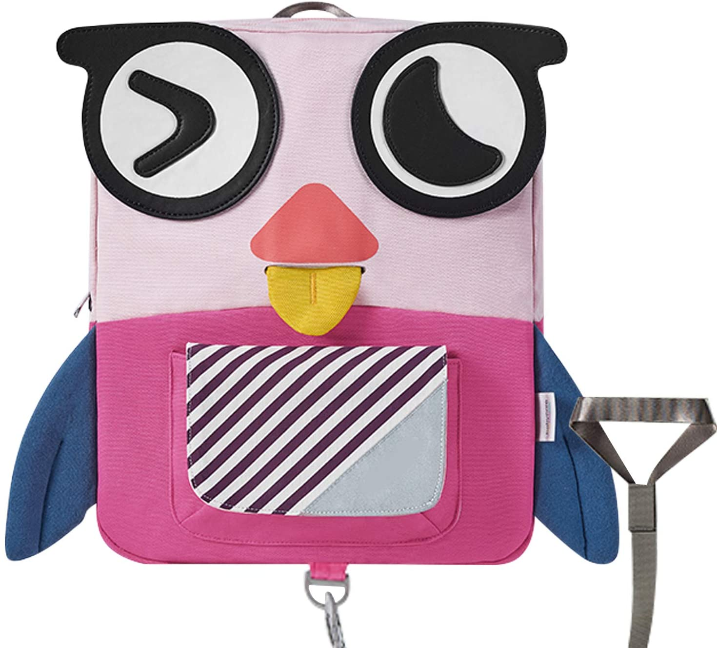 willikiva Kids Toddler Backpack for Boys and Girls Waterproof Children School Bags With Safety Harness Leash (Pink Owl)