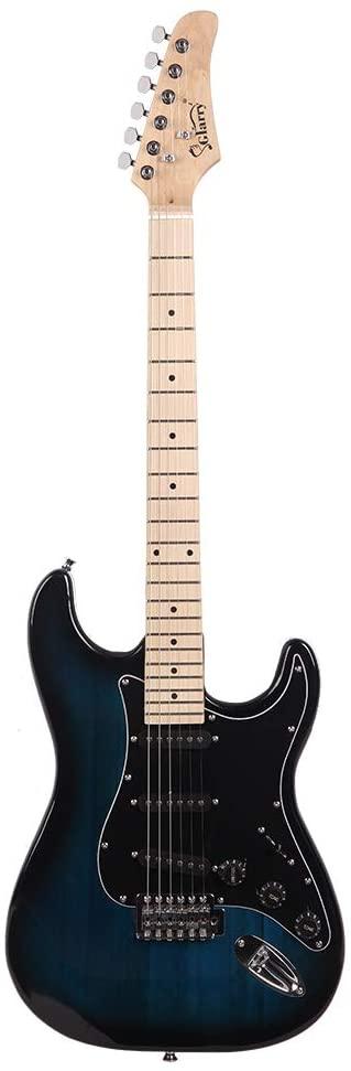 Fishoo Glarry GST Stylish Electric Guitar Kit with Black Pickguard
