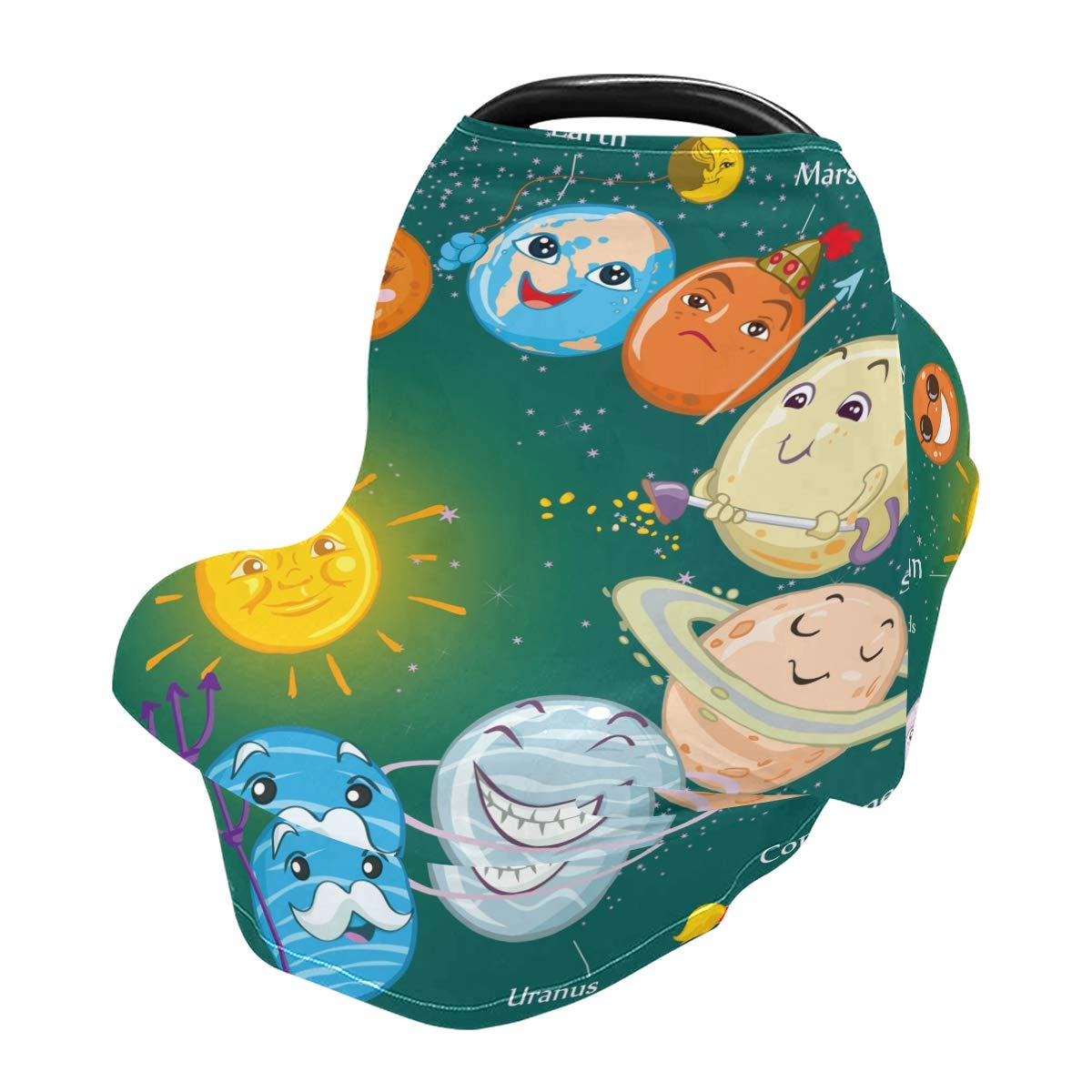 Nursing Cover Breastfeeding Scarf Solar System Planets - Baby Car Seat Covers, Infant Stroller Cover, Carseat Canopy for Girls and Boys(820f)
