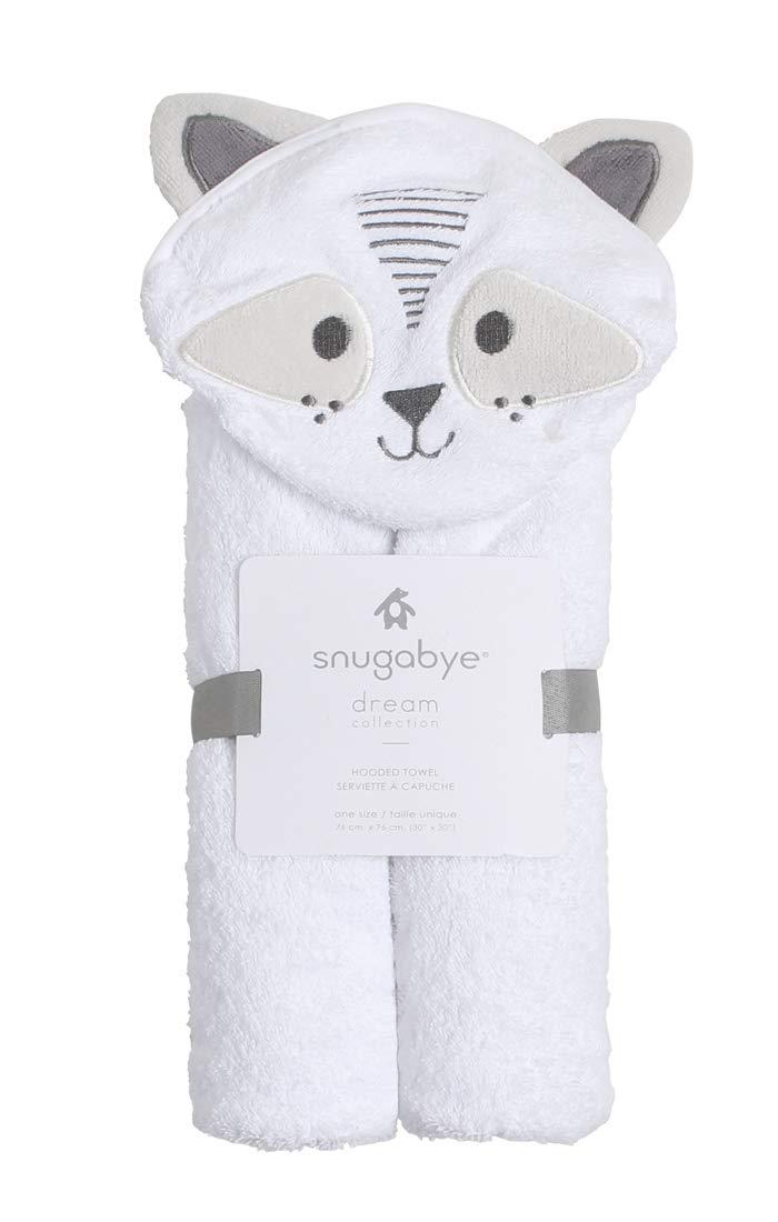 Snugabye Hooded Baby Towel with 3D Ears - Raccoon