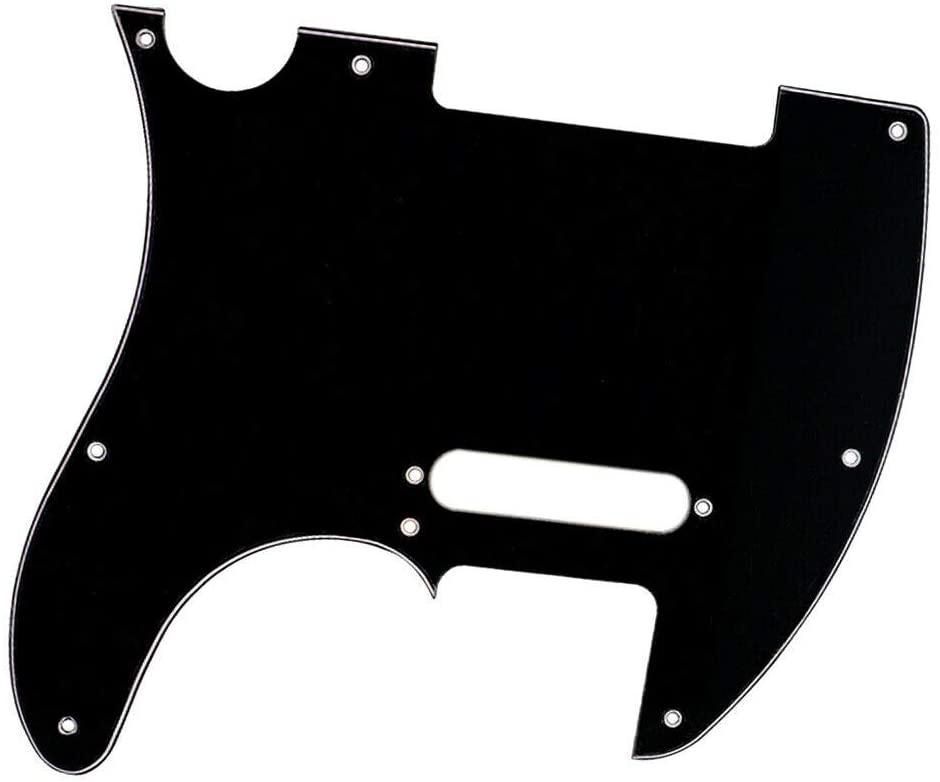 Guitar Basses Parts, Electric Guitar Pickguard Guitar Pickguard Plate Replacement Black for TL