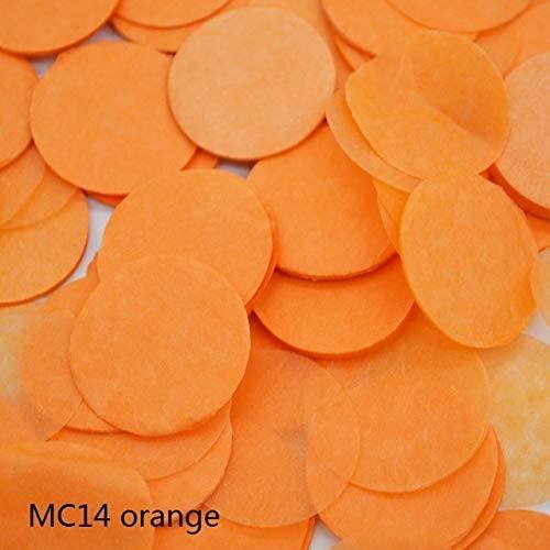 Rarido 1500pcs 2cm Multicolor Romance Round Paper Confetti Party Wedding Table Decoration - (Color: MC14 orange)