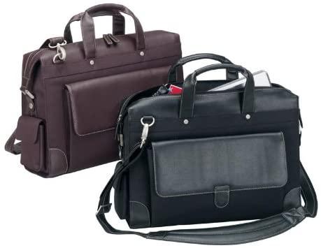 Goodhope the Senator Bellino Leather Briefcase Mahogany