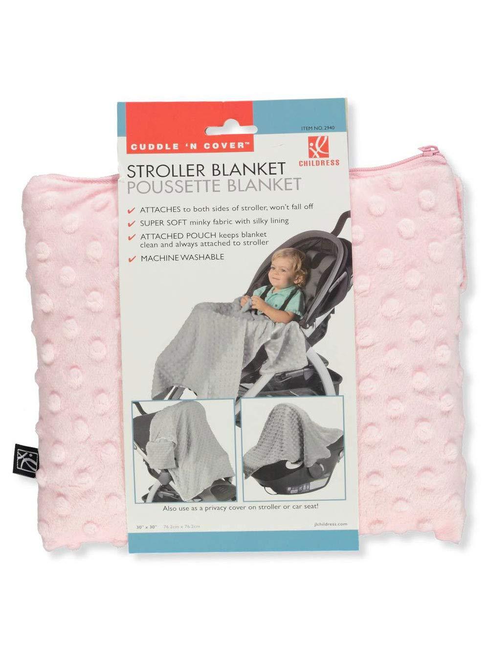 J.L. Childress Cuddle 'N Cover Stroller Blanket, Pink
