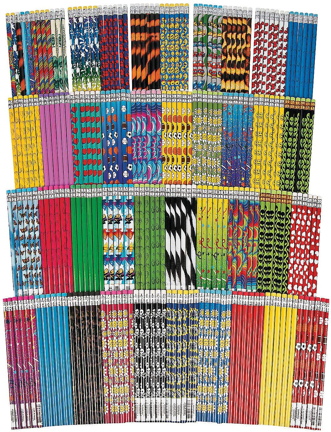 Mega Pencil Assortment | 250 Pieces | Favors, Giveaways, Rewards, Gifts, Takeaways, Kid's Birthday, Vacation Bible School, Christmas, Easter, 100th Day of School