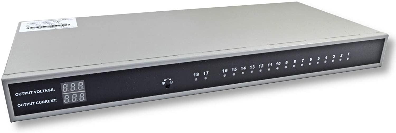 18 Channel AC 120V to DC 12V 20 Amp Power Supply for CCTV Rack Mount