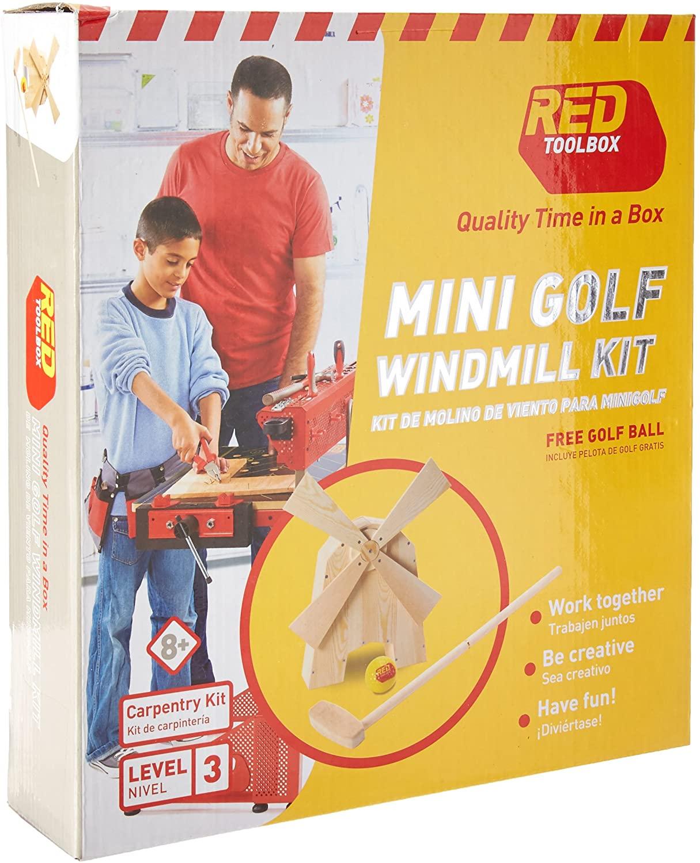 Red Tool Box Mini Golf Windmill