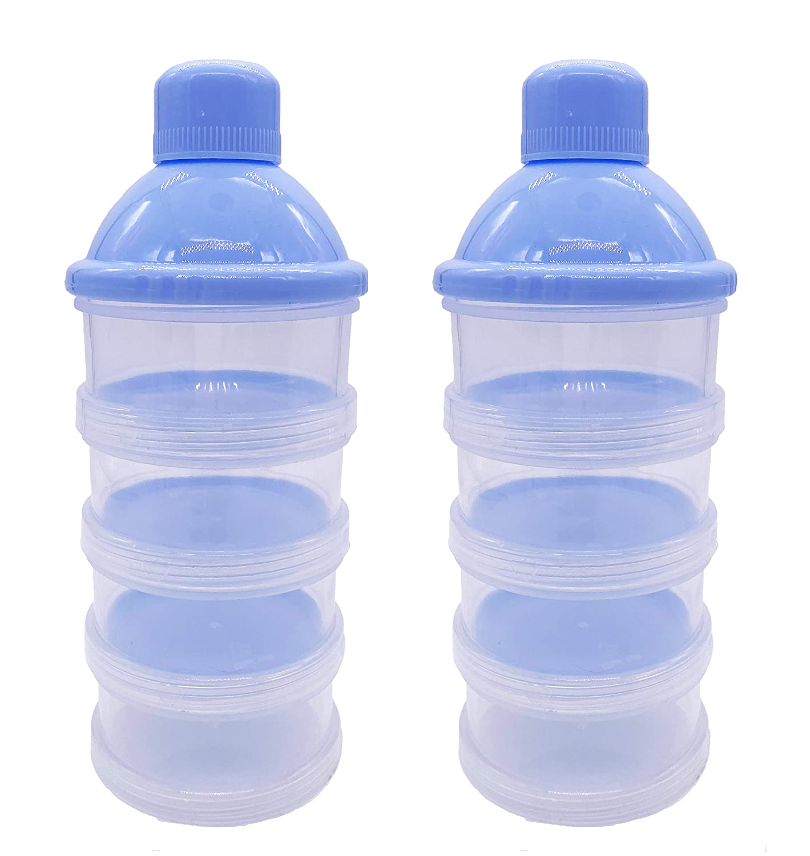 Goldenvalueable Non-Spill Baby Milk Powder Dispenser/Storage Container, Blue (2pcs)
