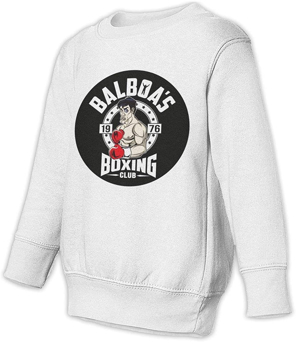 Rocky Balboa Toddler Juvenile Micro-Elastic Sleeve Round Neck Design is Easy to Put On and Take Off Sweatshirt