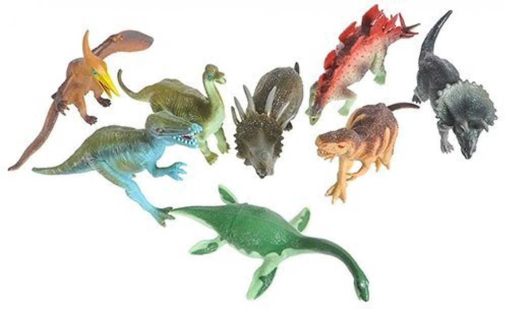 8 Piece Large Assorted Dinosaurs - Toys 6-7