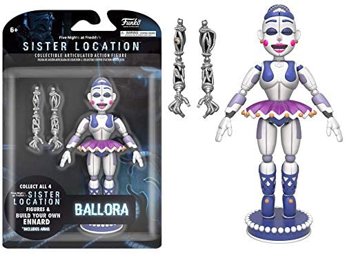 Funko Five Nights at Freddys Ballora Articulated Action Figure, 5