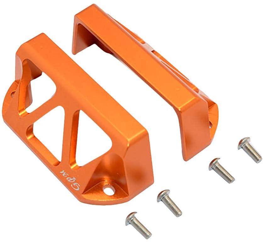 Binory 1 Pair GPM Racing Upgrade Part Aluminum Servo Protector for Traxxas E-Revo 1/10 RC Car(Orange)