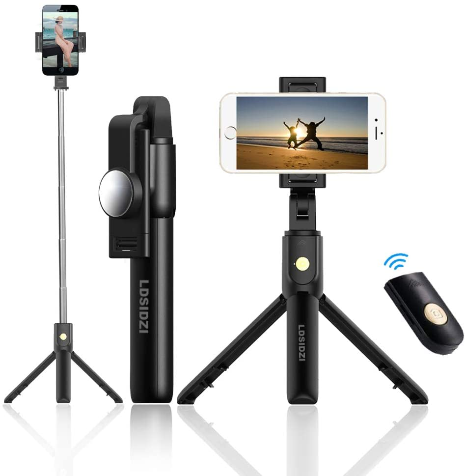 Selfie Stick Bluetooth Selfie Stick Tripod 3 in 1 Wireless Bluetooth Selfie Stick Foldable Mini Tripod Expandable Monopod with Remote Control for iPhone iOS Android