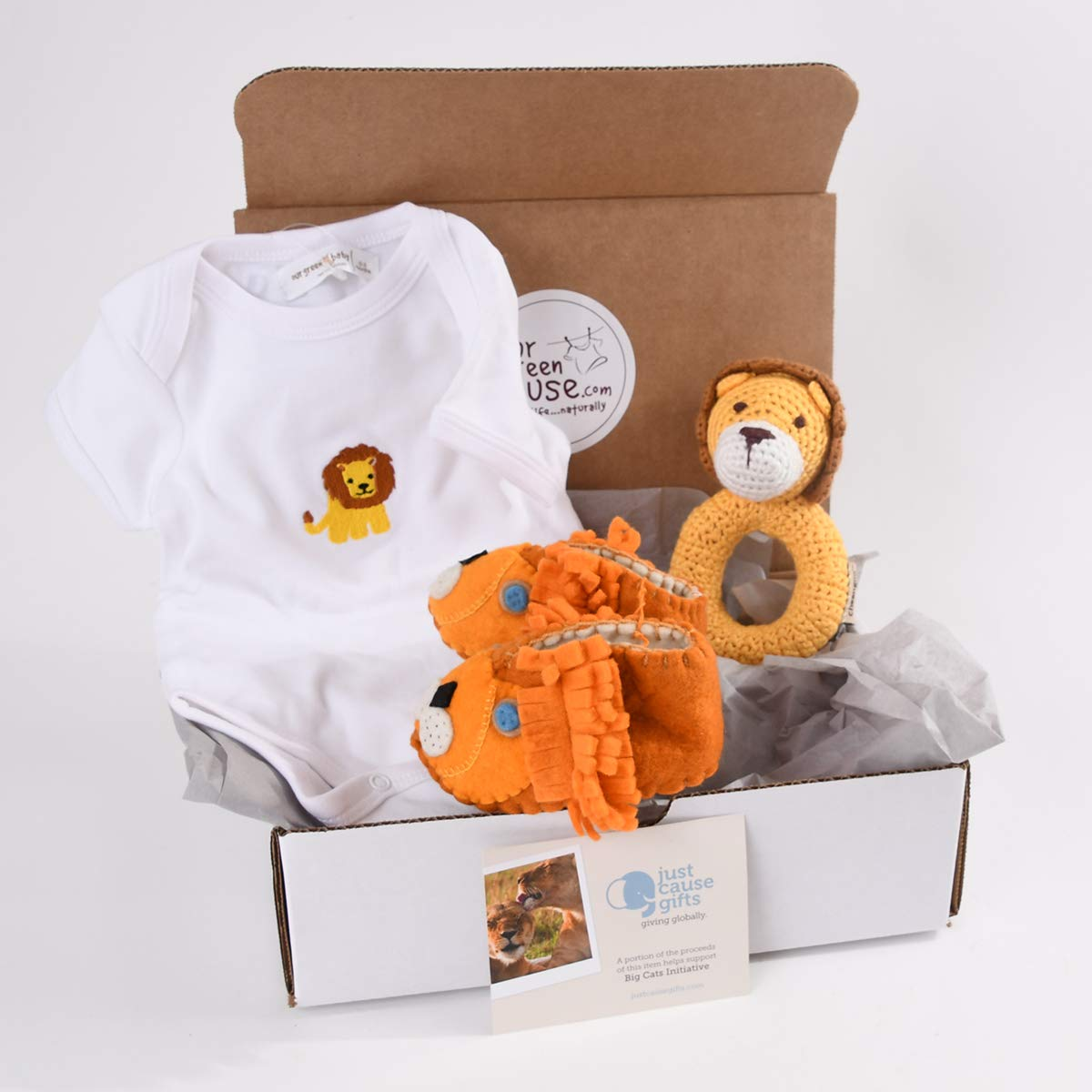 Baby Gifts That Give Back - Save The Lions Organic Toys and Clothes for Baby (0-3 Months)