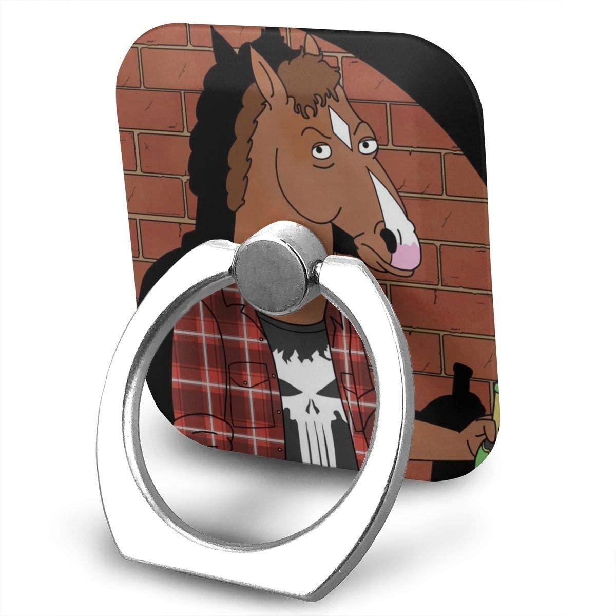 BoJack Horseman Phone Finger Ring Stand Bracket Holder Smartphone Grip Stand Holder 360 Degree Rotating Sticky Cute