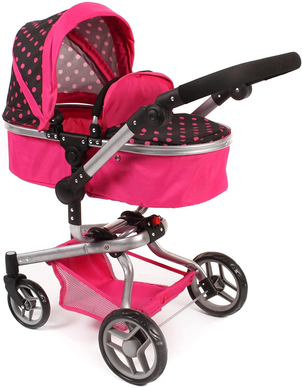 Bayer Chic 200059305–YOLO Combi Doll's Pram–Pink