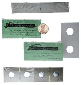 Guardhouse 2x2 Staple Paper Coin Holder for Penny/Cent, 300 Pack