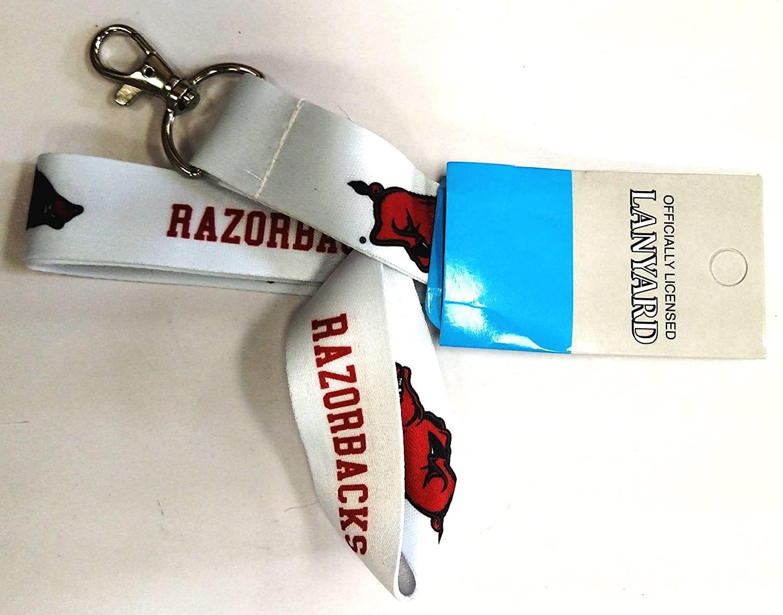 Arkansas Razorbacks RR Deluxe 2-Sided Lanyard Keychain University of