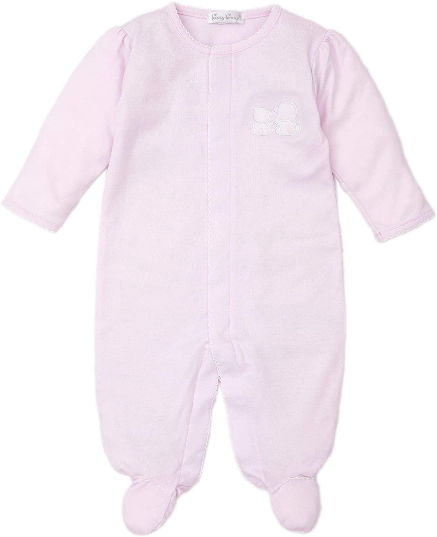 Kissy Kissy Baby-Girls Infant Pique Bare Backs Pink Footie