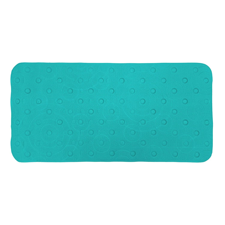 Idea Factory Cushion Safety Bath Mat, Teal, 17