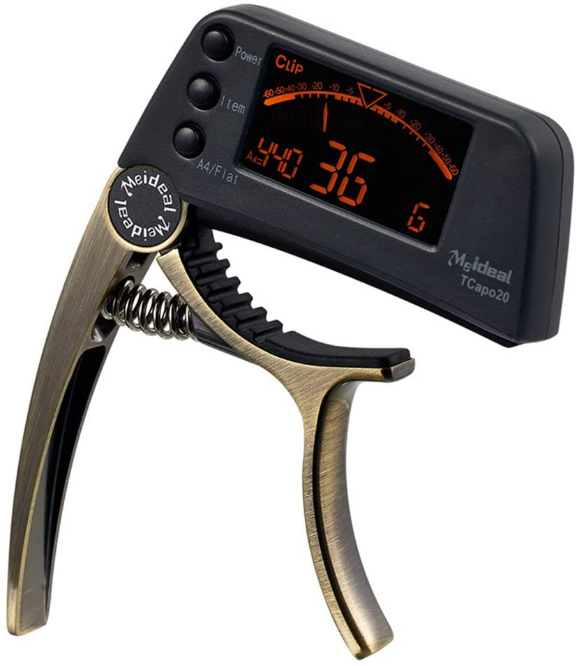 Guitar capo electronic tuner combo Guitar Accessories Tuner (Bronze)