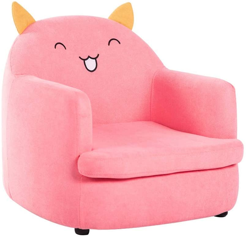 KFDQ Novelty Kids Sofa,High Back Kid'S Armchair,Soft Comfy Removable and Wooden Children Upholstered Chair