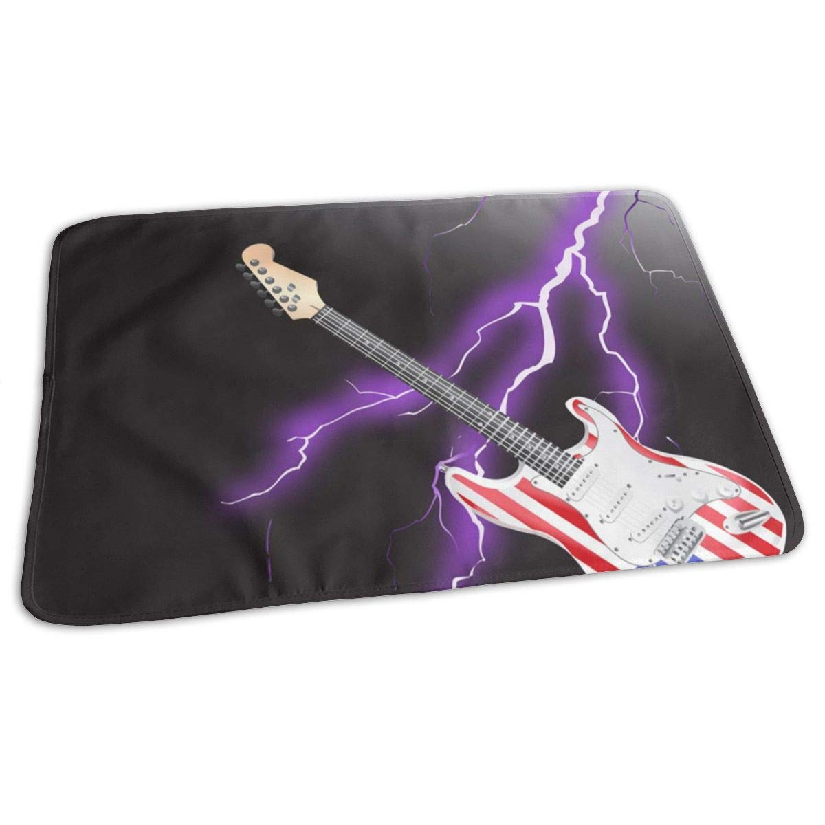 American Rock and Guitar Lightning Baby Changing Pad Waterproof Portable Changing Pad Home Travel 27.5¡±x19.7¡±