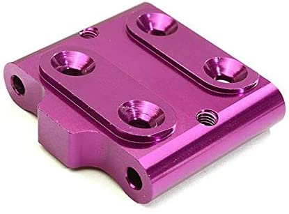 Integy RC Model Hop-ups C28631PURPLE Billet Machined Alloy Front Lower Suspension Mount for Tamiya 1/10 M-07