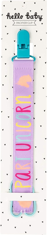 Part Unicorn on Purple Children's 10 inch Leash and Pacifier Clip
