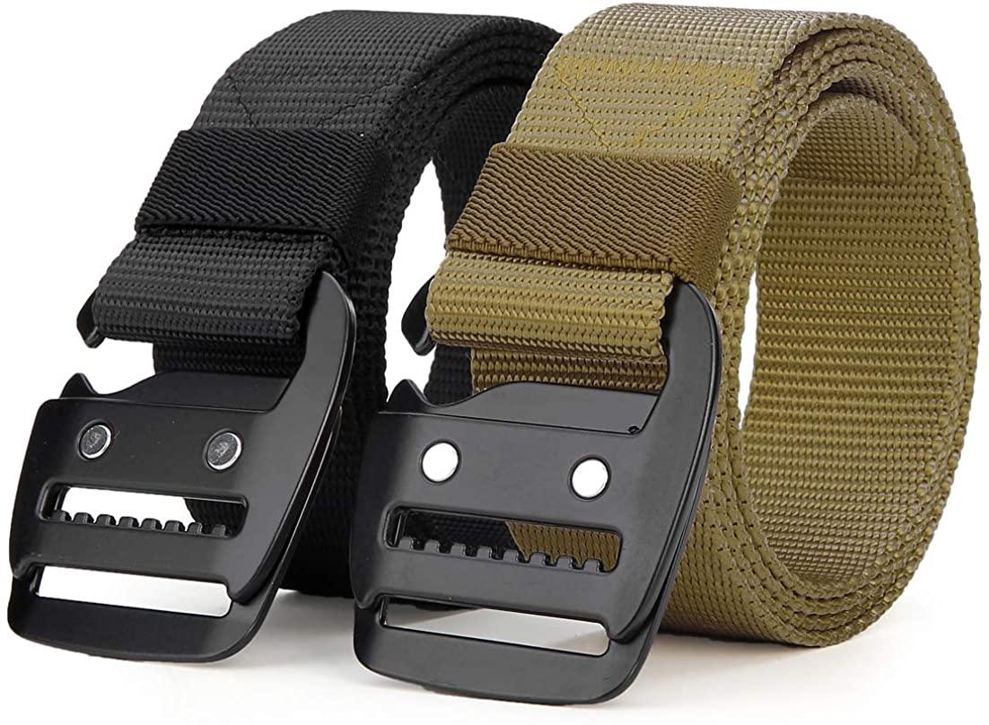 ANDY GRADE Tactical Rigger Belts Nylon Belts with Simple Hanging Buckle Webbing Waist Belt for Men Jeans