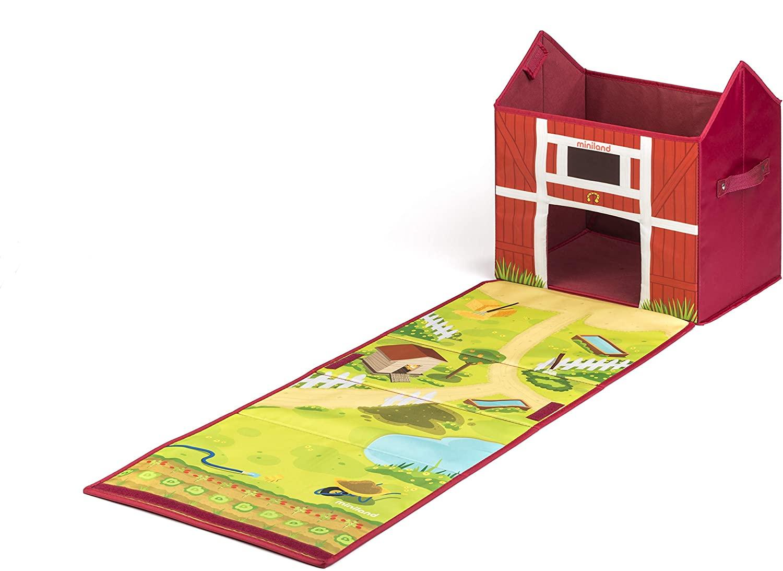 Miniland Farm Box: Convertible Farm-Shaped Storage Chest (97097)