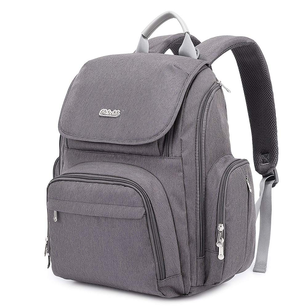 Diaper Bag, Baby bags Backpack for Mom and Dad with Changing Pad(Dark Gray)