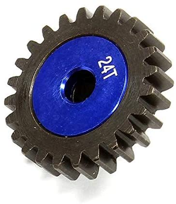 Integy RC Model Hop-ups C24991 Billet Machined HD Pinion Gear 24T for HPI 1/8 Apache SC & C1 Flux