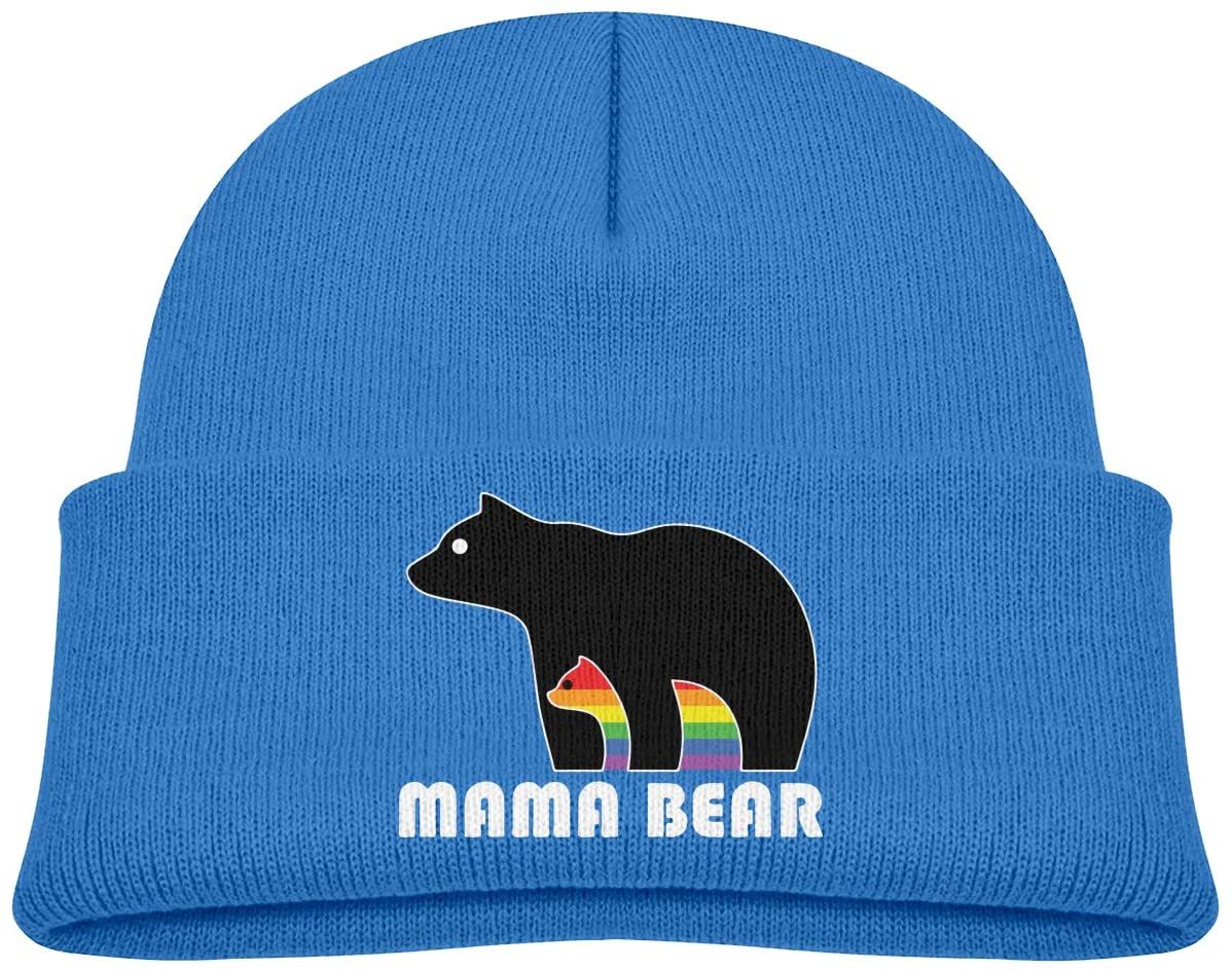 Mama Bear LGBT A Cute and Thick Stretch Cap Suitable for Children's Winter Warm Baby Cap