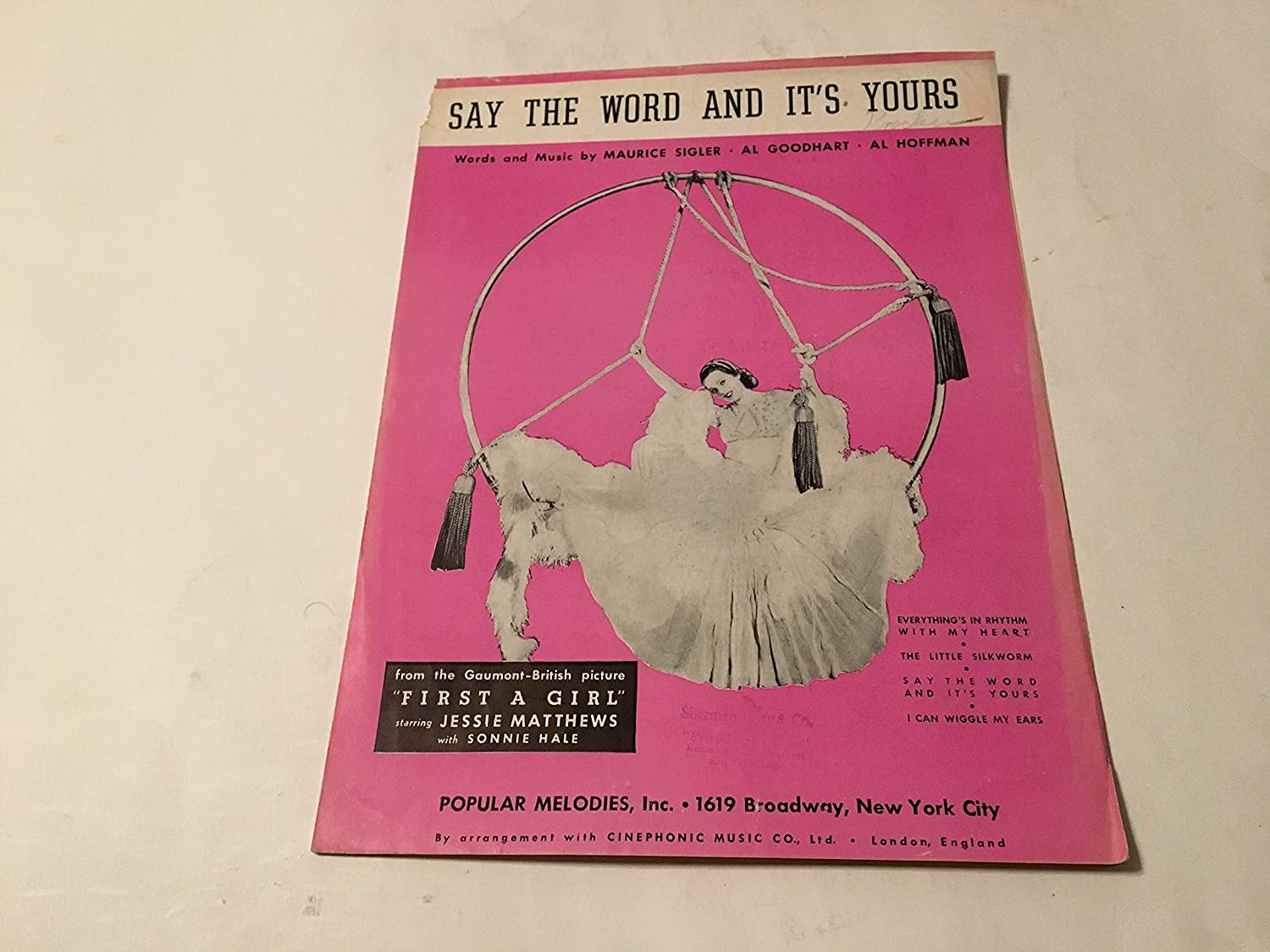 SAY THE WORD AND ITS YOURS SHEET MUSIC