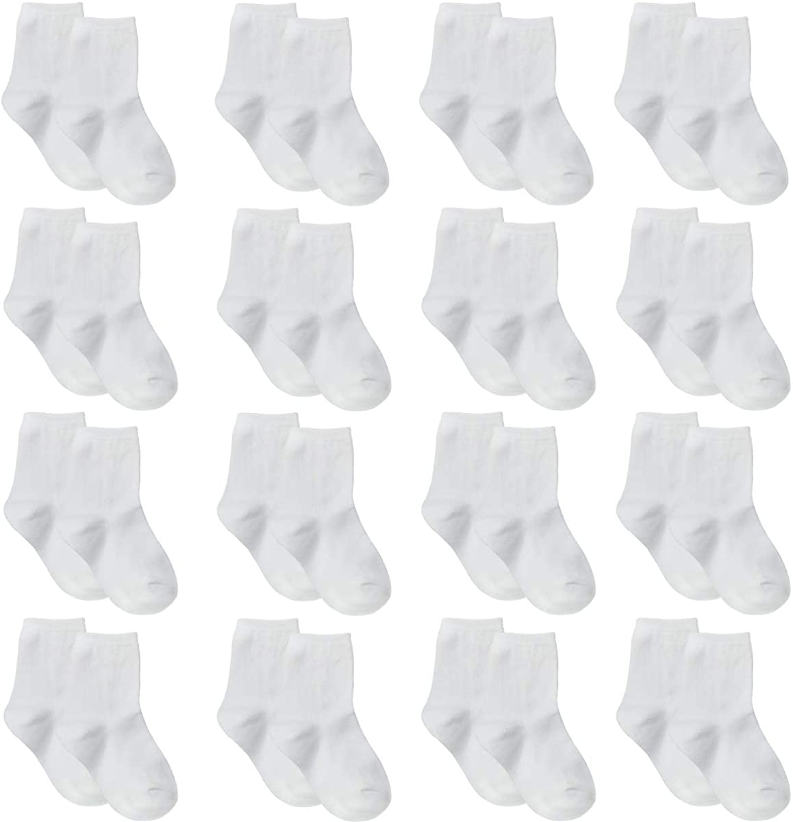 Toddler Baby Socks 16 Pair Cotton Infant Socks For Boys Girls