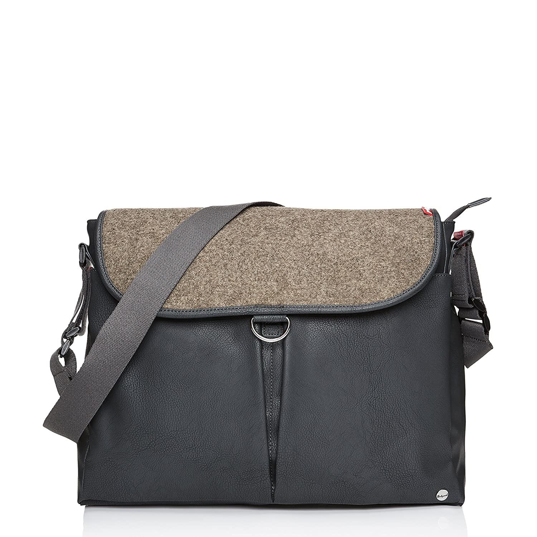 Babymel Ally Vegan Leather Tote Diaper Bag, Grey