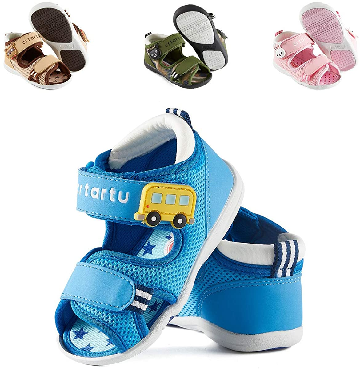 CRTARTU Baby Sandals Baby Sneakers Toddler Water Shoes Baby Footwear for Summer Baby Walking Shoes Anti-Slip Shoes Rubber Running Shoes