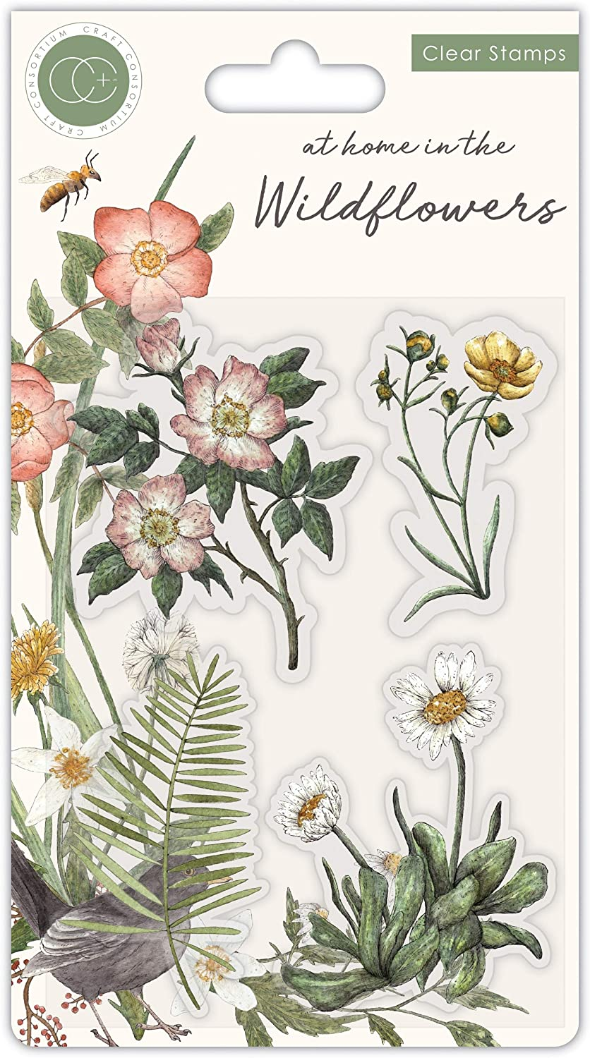 CRAFT CONSORTIUM LTD Stamp, Flora, at Home in The Wildflowers
