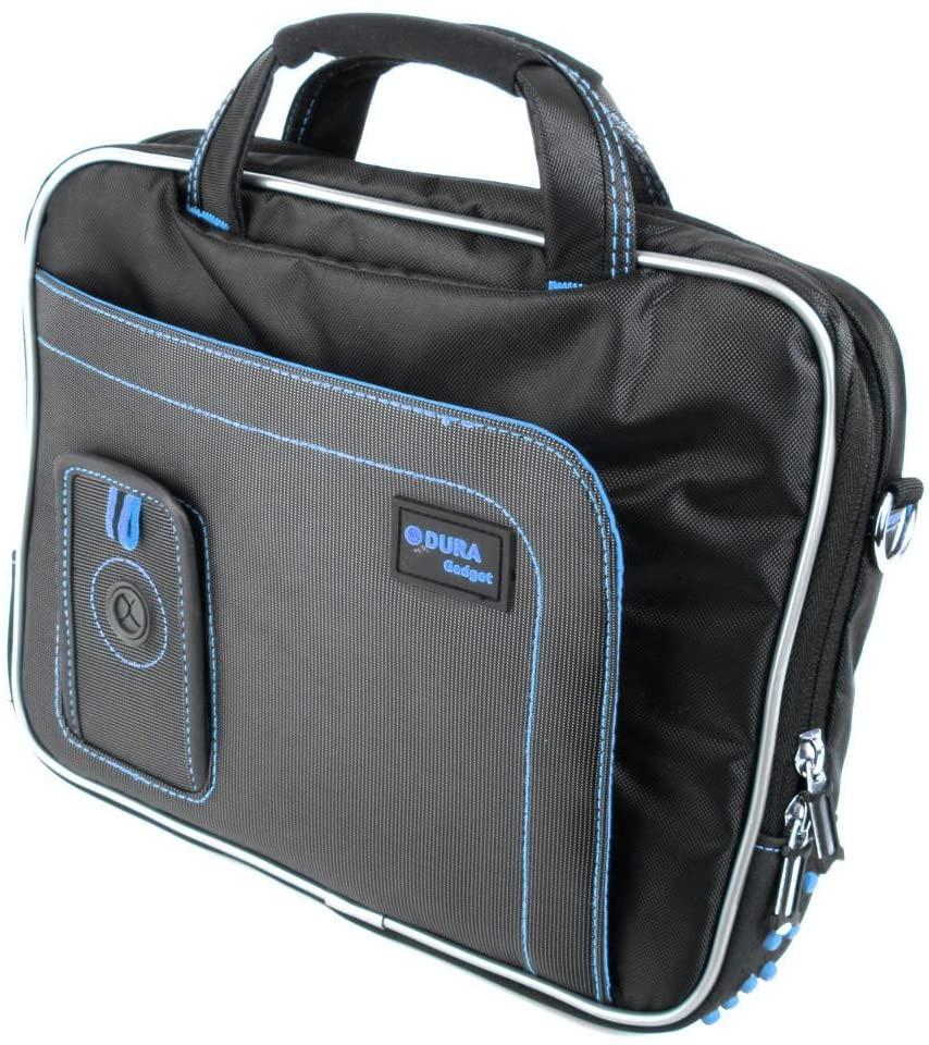 DURAGADGET Water Resistant Black & Blue Case w/Accessory Storage - Compatible with Waitiee Walkie Talkie