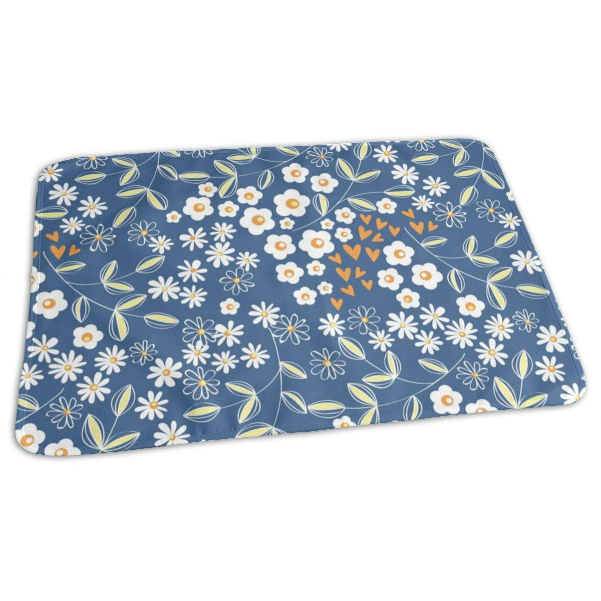 ZZguowuque Portable Changing Pad -Reusable Waterproof Baby Changing Pad(9.457.09 Inch) Geometric Floral