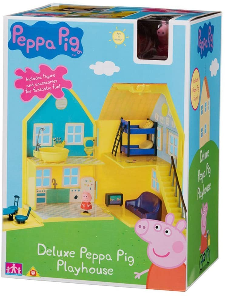 Peppa Pig Deluxe Playhouse Includes Figures and Accessories for Fantastic Fun