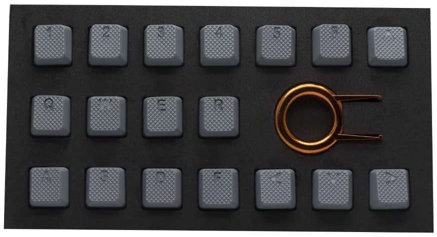 Tai-Hao Rubber Keycap Set (18) - Grey