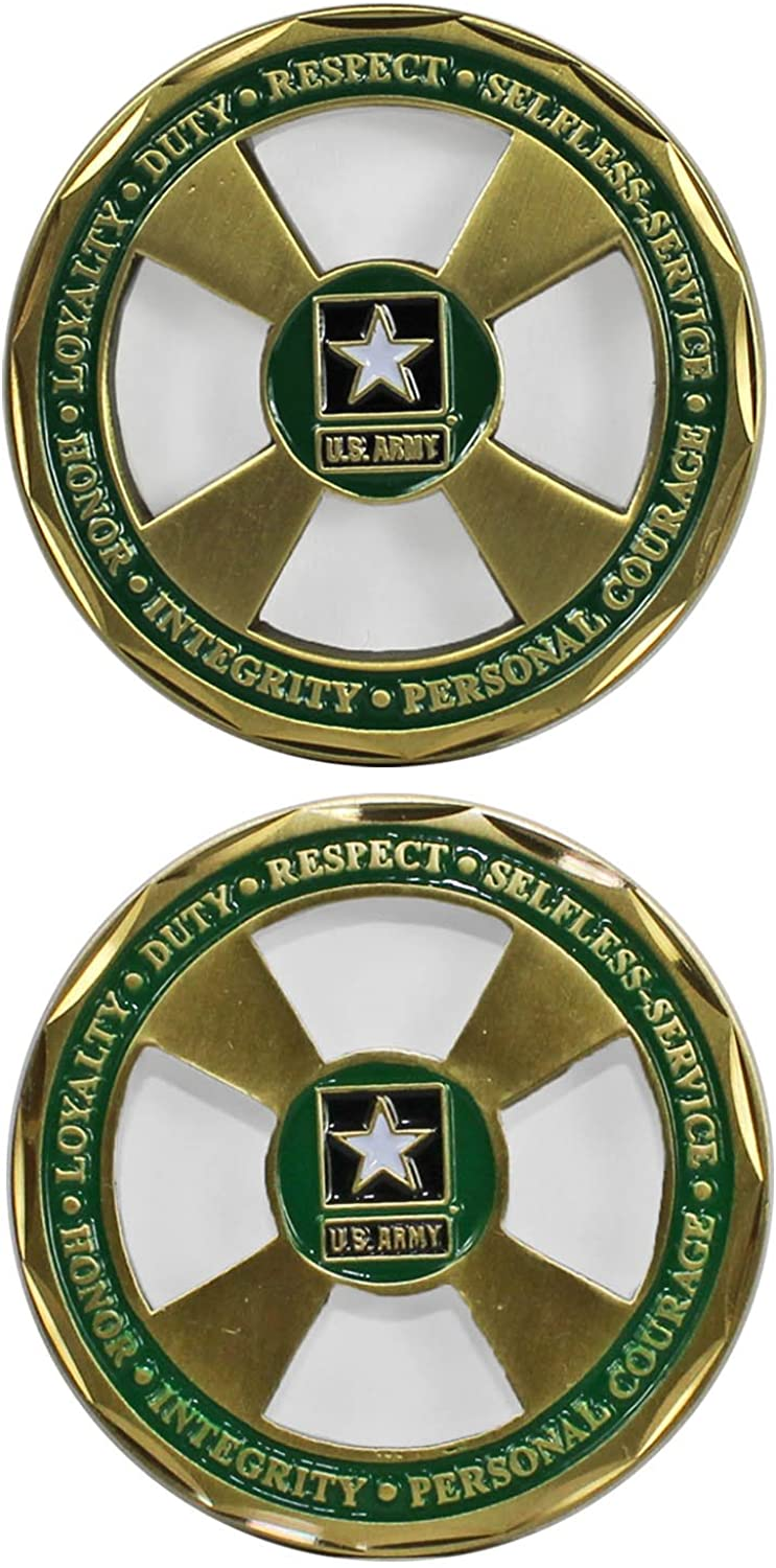 U.S. Army Core Values Cut Out Challenge Coin 3117
