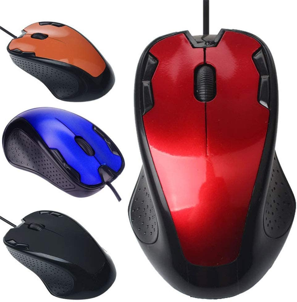 MOKEANGC 1800 DPI USB Wired Optical Gaming Mice Optical Wired Gaming Mouses Mice for Computer PC Laptop Pro Gamer Mouse (Color : C)