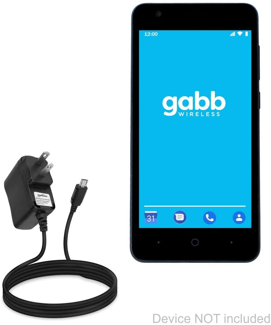 ZTE Gabb Z1 Charger, BoxWave [Wall Charger Direct] Wall Plug Charger for ZTE Gabb Z1
