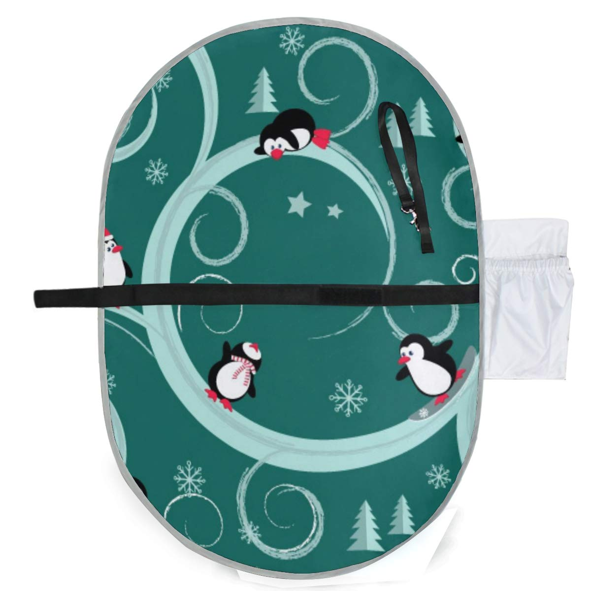 Waterproof Washable Baby Diaper Changing Pad Mat Penguins Portable and Foldable Infant Large Nappy Mat 27x20 inch
